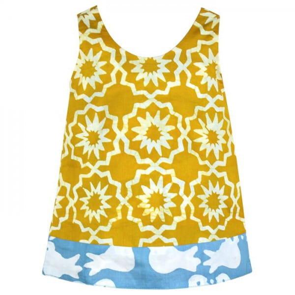Babys Reversible Dress - Chroma Mustard