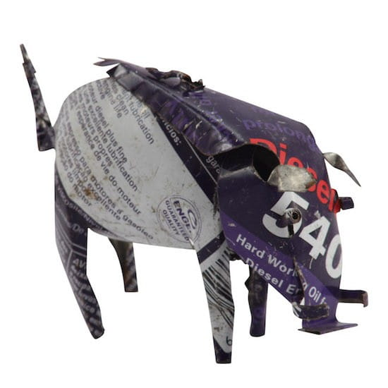 Warzenschwein - Recycling Blechtiere - S