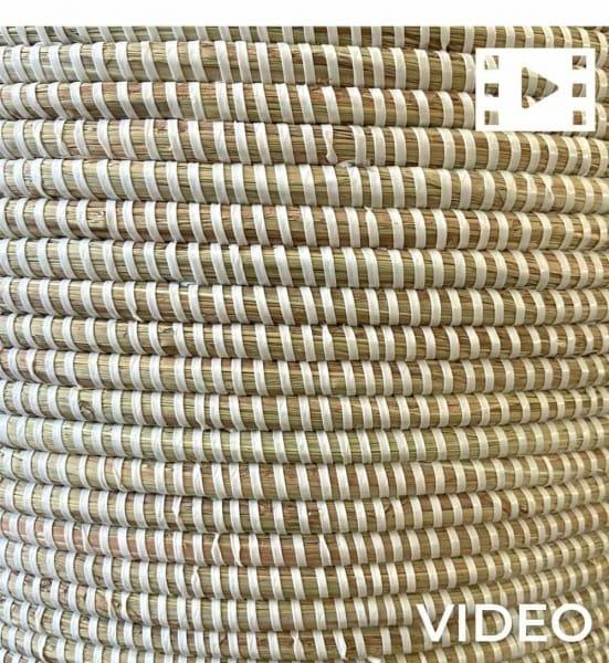 Wäschekorb Senegal XXL - Stripes - Weiß