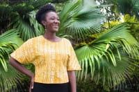 Afrikanische Blusen Gelb Bio Damenbluse