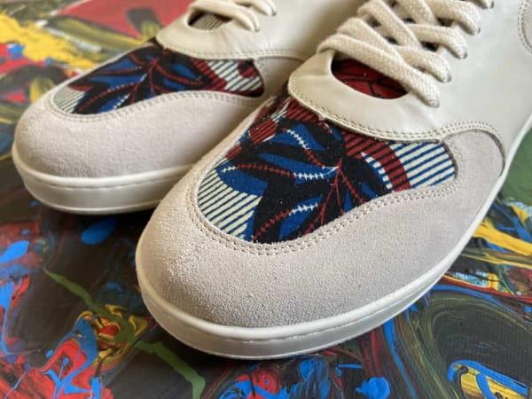 African Fair Trade Sneaker - Sahara Creme F