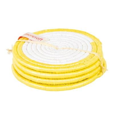 Untersetzer 4er Set - 10cm - Recycelt Gelb