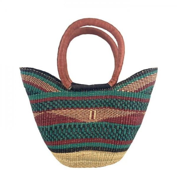 Bolga Bag Einkaufskorb aus Ghana Afrikanische Tasche