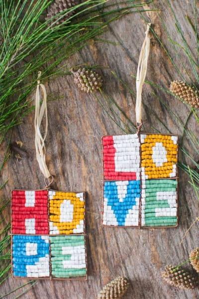 Perlenanhänger Love - Rainbow Groß - Upcycling