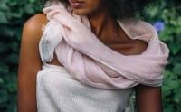 Mariam - Schal aus Leinen - Blush