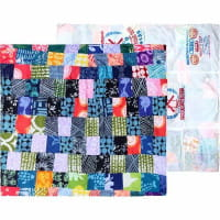 Patchworkdecke Afrika - Upcycling
