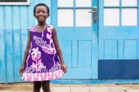 Girls Reversible Dress - Marina Purple