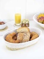 geflochtene Brotkörbe Weiß Natur Braun nachhaltig alternativ öko