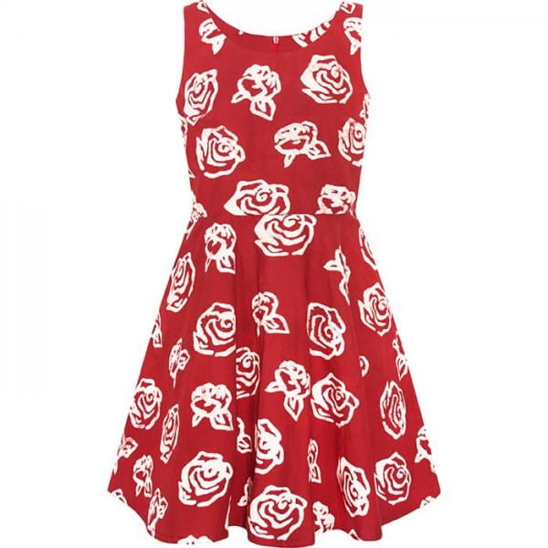 Ava Dress - Roses - Rot