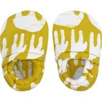 Bio Babypuschen - Elefant & Giraffe - Gelb