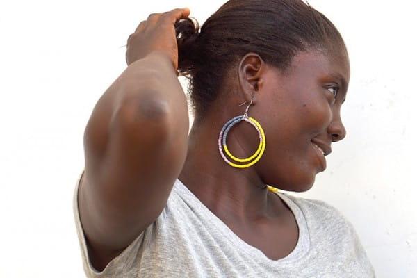 Afrikanische Hoop Ohrringe