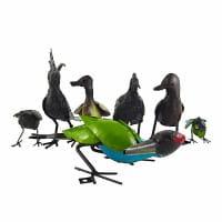 Metall Vogel - Deko Garten - Perlhuhn