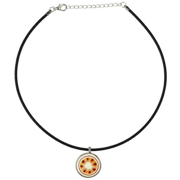 Karma Halskette - Hill - Straußenei - Orange