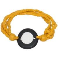 Full Circle Armband - Gelb - Glasperlen