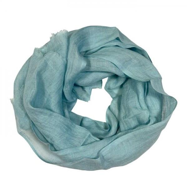 Telba - Schal aus Leinen - Unisex - Ice Blue