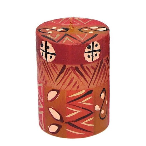 Bunte Kerzen - BONGAZI - Handbemalt 5x7cm