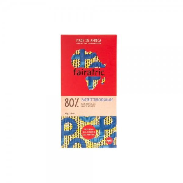 Fairafric Bio Schokolade Zartbitter 80% Ghana Afrika