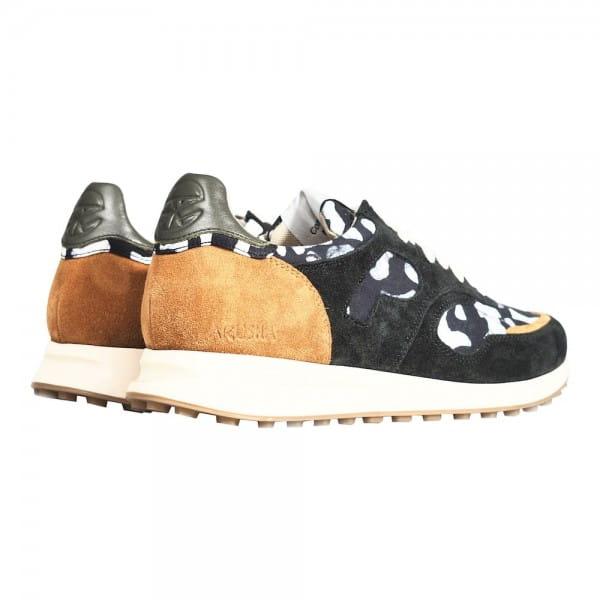 African Fair Trade Sneaker - Arusha Ebène