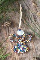 Perlenanhänger Engel - Rainbow Groß - Upcycling
