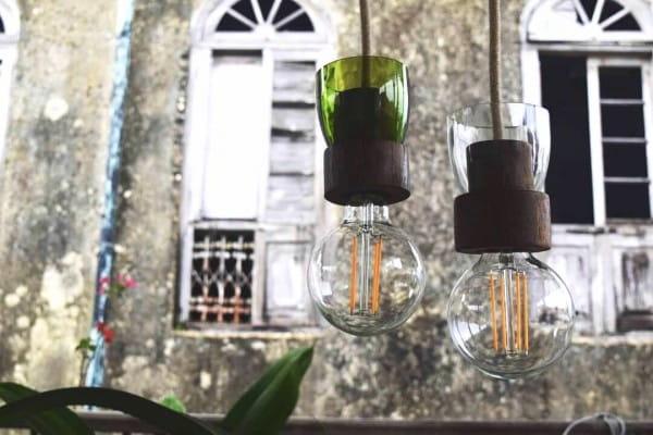 Lampe Weinflasche - Pure Grün - Nur Lampenschirm