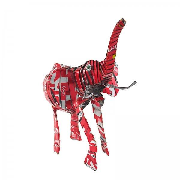 Elefant - Recycling Blechtiere - L