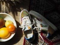 African Fair Trade Sneaker - Arusha Ivoire