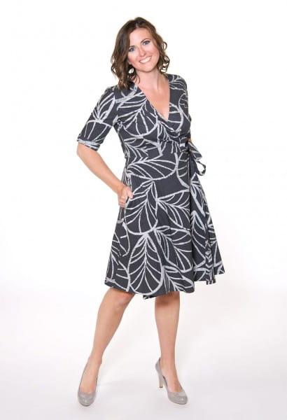 Wrap Dress 3/4 - Canopy Charcoal - Grau