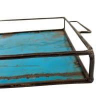 Ölfass Tablett - Blau - Upcycling Art