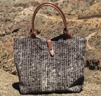 African Tote Bags - Safari - Tread Brown