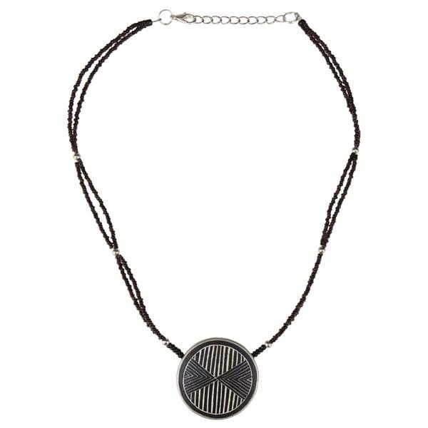 Karma Halskette - Linear Arrow - Straußenei