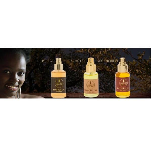 Aurum Africa Pflegeöl Namibia Baobab Mongongo Marula Öl