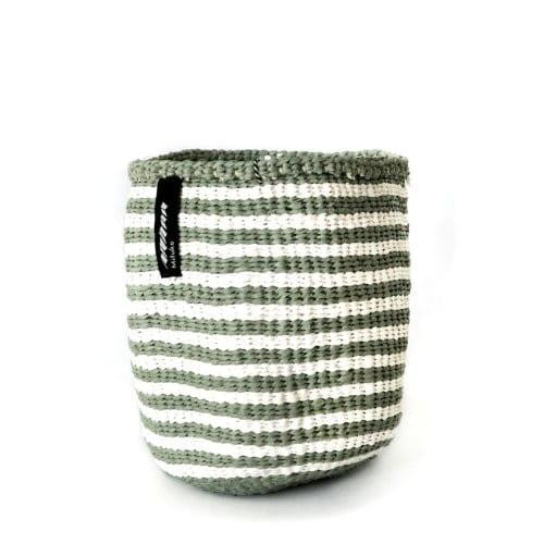 Kiondo Korb XS - Thin Stripes - Hellgrün