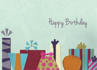Recycling Geburtstagskarte - Presents