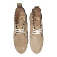 Fair Trade Wildleder Schuhe Boots Braun Beige Damen Herren Hi Top