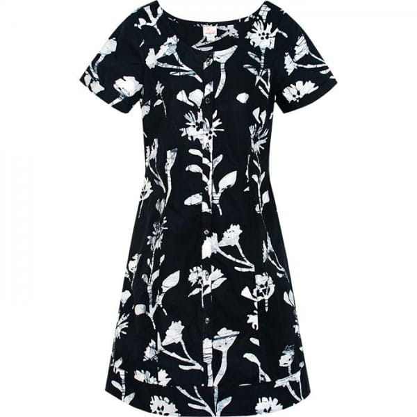 Button Front Dress Global Mamas Wildflower Black