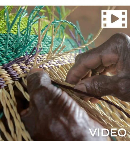 Bolga Korb - Accra - Viele Farben - Rund