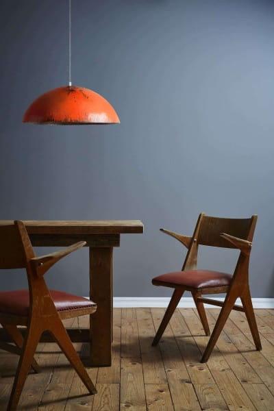 Upcycling Deckenlampe - Ölfass L - Orange