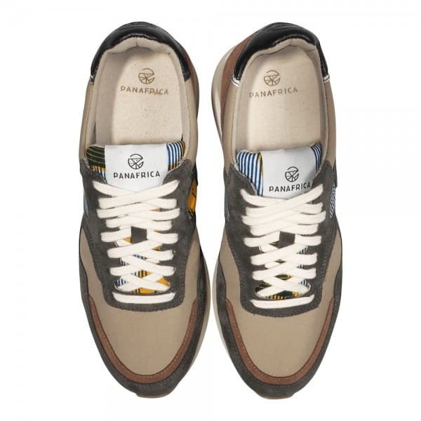 African Fair Trade Sneaker - Arusha Gris