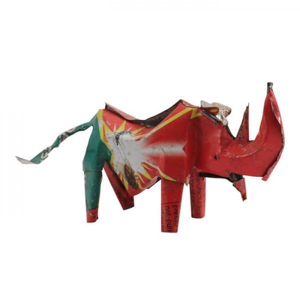 Nashorn - Recycling Blechtiere - S