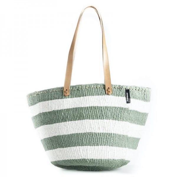 Kiondo Tasche Mifuko Shopper Bag Kenia afrikanische Tasche Grün