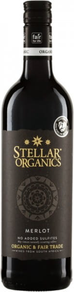 Merlot ohne SO2 sulfitfrei ohne Sulfite 2020 Bio Fairtrade Stellar Organics Südafrika Rotwein
