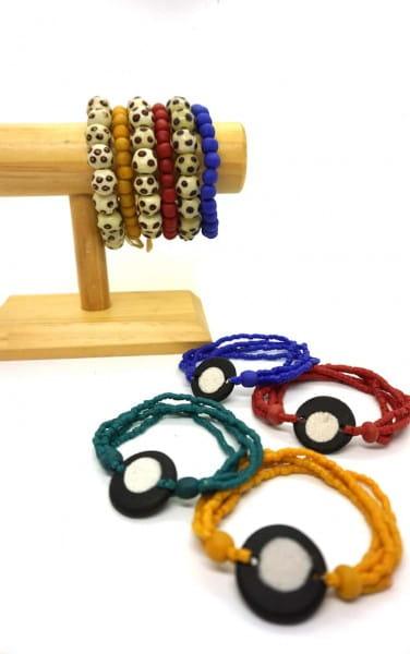Full Circle Armband - Blaugrün - Glasperlen