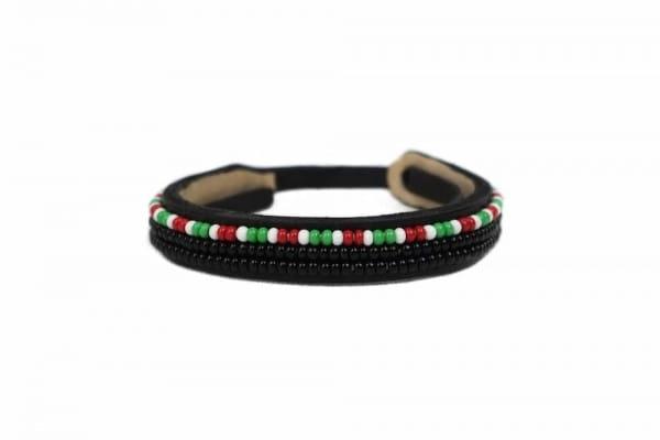 Armband Afrika Leder Perlen