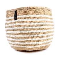 Kiondo Korb S - Thin Stripes - Braun