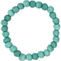 Upcycling Armband Glasperlen Global Mamas Blau Gruen