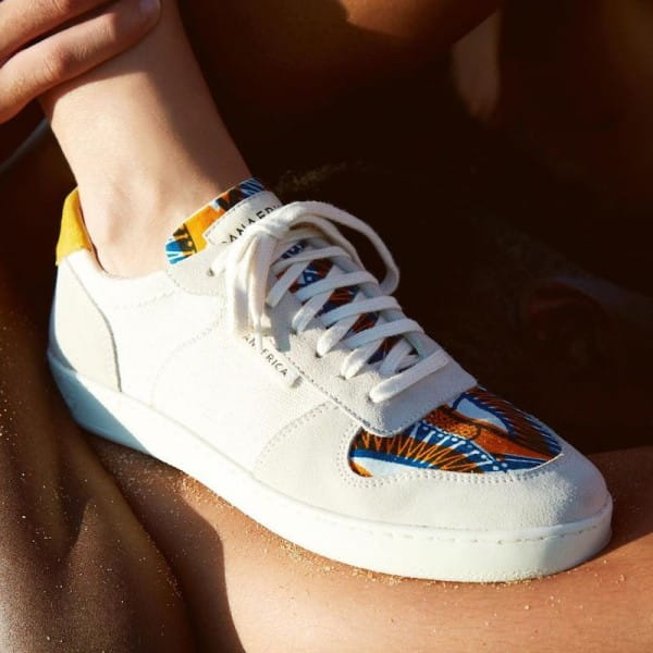 African Fair Trade Sneaker - Sahara Argile F
