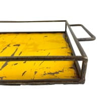 Ölfass Tablett - Gelb - Upcycling Art