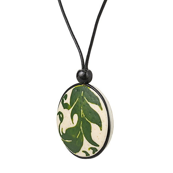 Karma Halskette - Leaves - Straußenei