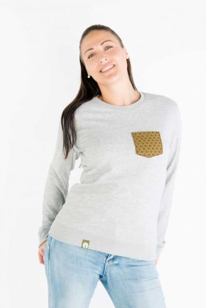 Shwe Shwe Pocket - Unisex - Grau - Organic Sweater