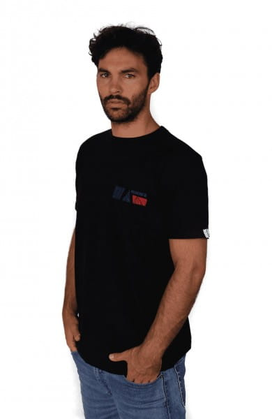 Nyeusi Pocket - Unisex - Schwarz - Organic Shirt